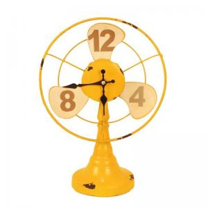 fan-clock-yellow - wall-clocks